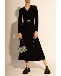 Michael Kors Vestido con escote pico Negro