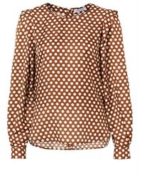 Louis and Mia Blouse - Bruin