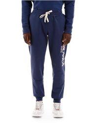 CASABLANCA Logo Embroidery Sweatpants - Blauw