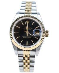 Rolex Tweedehands Datejust Oyster Perpetual Horloge - Geel