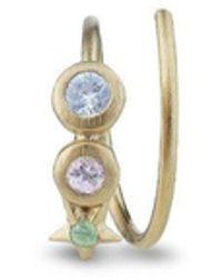 Jane Kønig Star Spiral Earring, Gold-plated Sterling Silver - Grijs