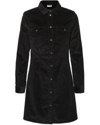 Noisy May Button Dress - Schwarz
