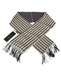 Dolce & Gabbana Dots Stripes Scarf - Grijs