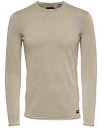 Only & Sons Onsgarson 12 Wash Crew Neck - Naturel