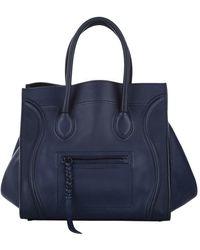 Céline Vintage Phantom Lederen Handtas - Blauw