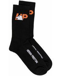 Heron Preston Hp-eagle Long Socks - Zwart