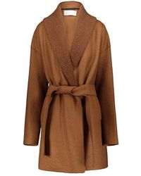 Harris Wharf London Kimono Coat - Bruin