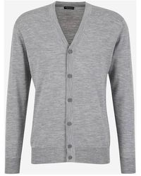 Santa Eulalia Buttoned Wool Cardigan - Gris