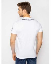 Save The Duck - T-shirt Blanco - Lyst