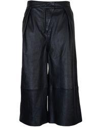 Tigha Culotte Elif aus Leder - Schwarz