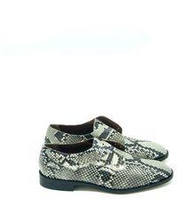 Michel Vivien Derbies Lewin - Pitone Acapulco Rocca Shoes - Groen