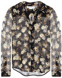 Victoria Beckham Silk shirt with floral print - Nero