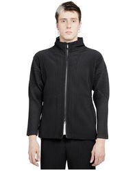 Just Cavalli Homme Plisse Jacket - Noir
