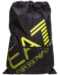 EA7 Men's Rucksack Backpack Travel - Zwart