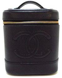 Chanel Vintage Tweedehands Handtas - Zwart