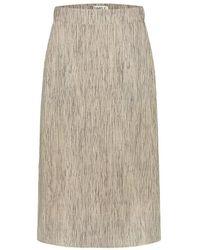 Simple Ize Stripe Skirt - Naturel