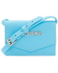 Jacquemus 'le Porte Azur' Strapped Card Case - Blauw