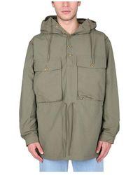 Nigel Cabourn 'Track Smock Army' Jacket Verde
