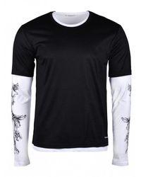 Alexander McQueen Trompe l'oeil T-shirt - Schwarz