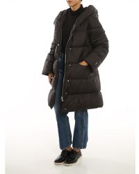 Add Hooded Long Down Coat W/Detachable Sleeves Negro