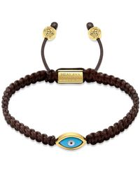 Nialaya String Bracelet With Evil Eye - Bruin