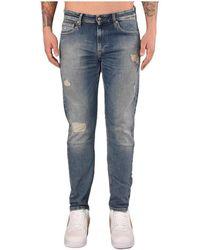 Calvin Klein 026 Jeans 5 Tasche Slim - Blauw