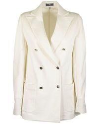 Fay Double Breasted Jacket - Wit