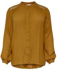 Only Carmakoma Carasta Life Ls Shirt - Oranje