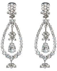 N°21 Crystal-embellished Chandelier Earrings - Grijs