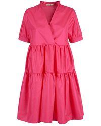 Yes-Zee A213-En00 Short Dress - Rose