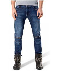 Philipp Plein Jeans Slim Fit - Bleu