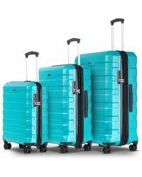 Conwood Carmel suitcase set S + M + L - Blau