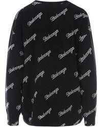 Balenciaga - Sweater Negro - Lyst