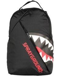Sprayground Angled Ghost Shark Backpack - Zwart