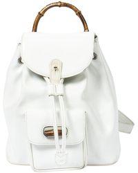 Gucci Bamboo Backpack - Blanc