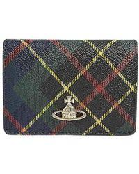 Vivienne Westwood Leather Card Holder - Groen