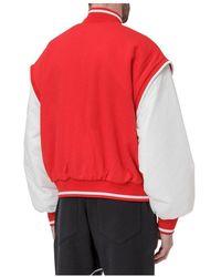 Converse Fleece Bomber Jacket - Rood