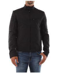 Calvin Klein K10k105600 Light Nylon Biker Jacket - Zwart