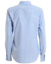 Salomon - Camicia Oxford Azul - Lyst