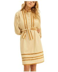 Antik Batik Mali Medium Dress - Naturel