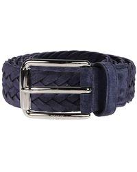 Tod's Braided Buckle Belt - Blauw
