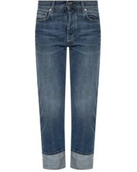 Givenchy Jeans With Turn Up Cuffs - Blauw