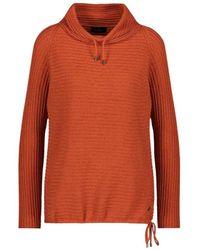 Monari Pullover Met Opstaande Kraag - Oranje