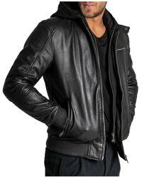 Arma Black Hooded Jacket Negro
