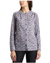 Cacharel Poplin Cotton Floral Shirt - Blauw