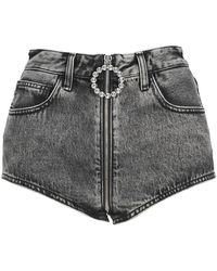 Alessandra Rich Shorts Fab2602f3349 - Grijs