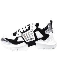 Les Hommes Sneakers basse in pelle - Blanc