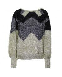 Relish Cooman Lurex Sweater - Grijs