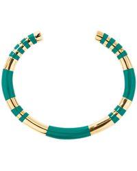 Aurelie Bidermann Positano Resin And Gold Plated Bangle Bracelet - Groen