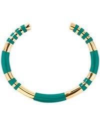 Aurelie Bidermann Positano resin and gold plated bangle bracelet - Vert